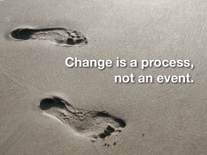 Incrementalism is the process of change