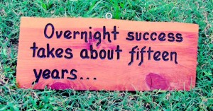 Overnight success takes about 15 years